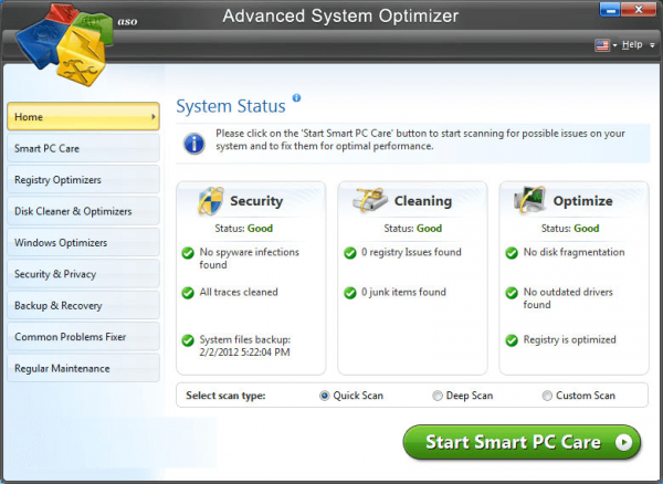 تحميل برنامج Advanced System Optimizer