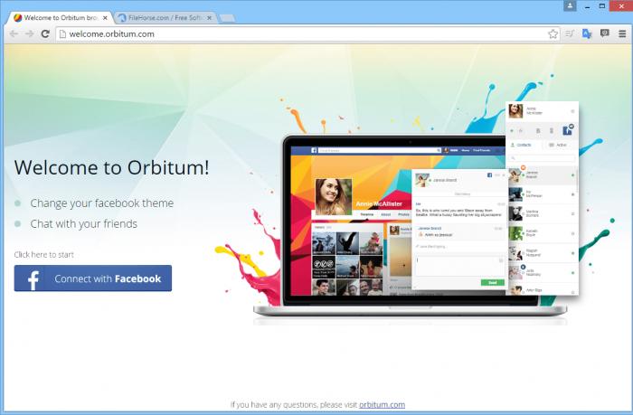تحميل متصفح Orbitum Browser